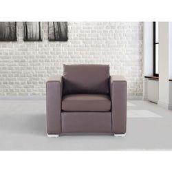 Skórzany fotel brązowy - sofa - helsinki, marki Beliani