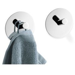 Zack Zestaw 2 wieszaków na ręczniki  duplo okrągły połysk