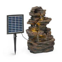 Blumfeldt messina, fontanna kaskadowa, fontanna solarna, fontanna ogrodowa, 4 poziomy, bateria (4060656226274)
