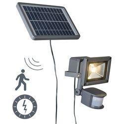 Qazqa Projektor solar led strain ciemnoszary