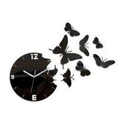 Zegar ścienny Butterfly Black, kolor czarny