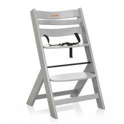 wysokie krzesełko dla dziecka scala, jasnoszare, bndt004-lgy marki Baninni