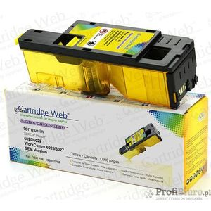 Toner cw-x6020yn yellow do drukarek xerox (zamiennik xerox 106r02762) [1k] marki Cartridge web