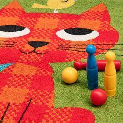 Dekoria  dywan modern cat green 67x130cm, 67x130cm