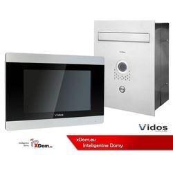 Zestaw jednorodzinny wideodomofonu. skrzynka na listy z wideodomofonem. monitor 7'' s551-skp_m903s marki Vidos