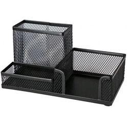 Przybornik na biurko Titanum czarny(3 KOMOROWY) (M-851B) (5907437642139)