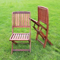 Krzesła ogrodowe akacja 2szt - meble margarita 45,7x94x61cm marki Ogrody leandro