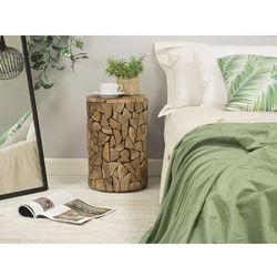Beliani Stolik kawowy drewno tekowe dawson