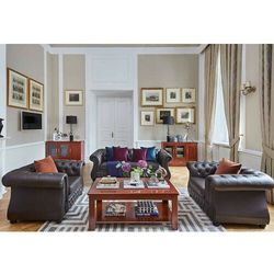 Sofa 3-osobowa CHESTER LUX brązowy, kolor brązowy