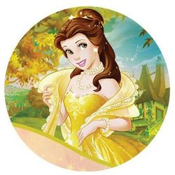 Dekoracyjny opłatek tortowy Princess - Księżniczki - 20 cm - 14