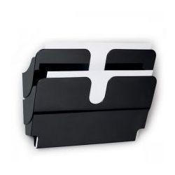 Durable Pojemniki na dokumenty poziome a4 landscape 2 szt. flexiplus czarne 1709014060