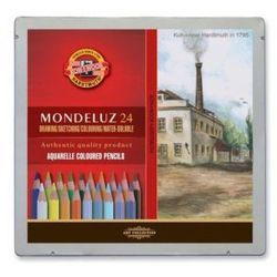 Kredki akwarelowe Mondeluz Koh-I-Noor - 24 kol. - Pejzaże, towar z kategorii: Kredki akwarelowe