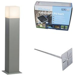 Lampa zewnętrzna szara 50cm ip44 z klinem i mufą kablową - denmark marki Qazqa