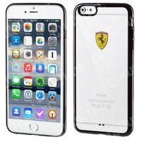 FERRARI FEHCP6LBK oryginalne etui hard case iPhone 6S Plus 6 Plus czarne przezroczyste - produkt z kategorii-