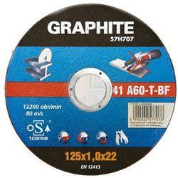 Tarcza tnąca GRAPHITE do metalu 125 x 1.6 x 22 mm. 41 A60-T-BF (tarcza do cięcia) od ELECTRO.pl