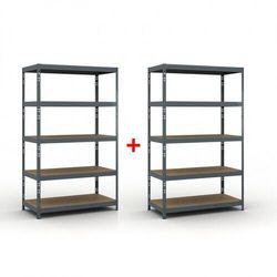 B2b partner Regał półkowy 2000 x 1200 x 400 mm, nośność 280 kg 1+1 gratis