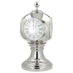 zegar stojący station wys. 64cm silver, 64cm marki Dekoria