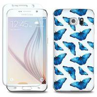 Full Body Slim Fantastic - Samsung Galaxy S6 - etui na telefon Full Body Slim Fantastic - niebieskie motyle, E