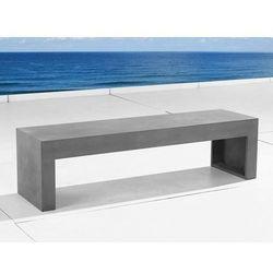 Beliani Ławka betonowa - ławka xxl - ławka ogrodowa - ławka betonowa - taranto
