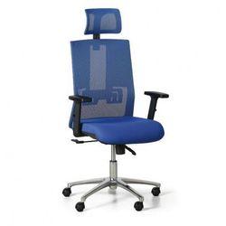 Krzesło biurowe Essen, niebieskie