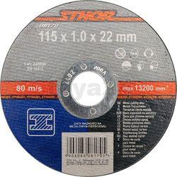 Tarcza do cięcia metalu 115 x 1 x 22 mm / 08170 / STHOR - ZYSKAJ RABAT 30 ZŁ