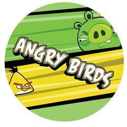 Dekoracyjny opłatek tortowy angry birds - 20 cm - 2 marki Modew