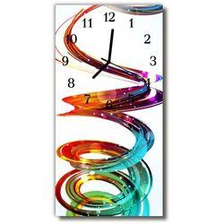 Zegar szklany pionowy sztuka spirala kolorowy marki Tulup.pl