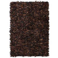 Dywan shaggy, prawdziwa skóra, 160x230 cm, brązowy marki Vidaxl