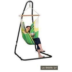 Zestaw hamakowy: fotel hamakowy currambera ze stojakiem mediterraneo, zielony cuc14mea12 marki La siesta