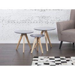 Stolik kawowy szary - ława - stół - zestaw - VEGAS