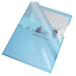 Ofertówka krystaliczna L Esselte A4/25szt.,150mic.-niebieska - produkt z kategorii- Koszulki, teczki, koperty