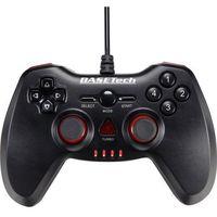 Basetech Gamepad pc  usb vibration usb vibration, usb, rodzaj transmisji danych: przewodowa, czarny, czerwony