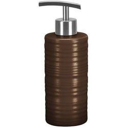 Dozownik mydła duży brązowy,