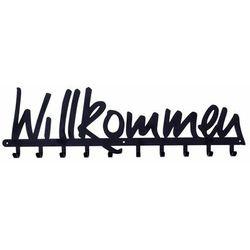 Wieszak ścienny Willkommen czarny (5901034181558)