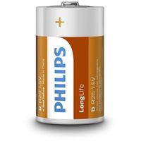 2 x bateria cynkowo-węglowa Philips LongLife R20 D (taca) (8712581549527)