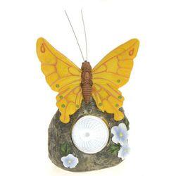 Lampa solarna motyl żółty figurka kamienna - wzór v, marki Progarden