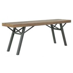 Drewniana ławka ogrodowa ethan - brązowa marki Producent: elior