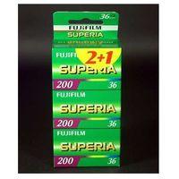 Fuji superia 200/36 x 3 negatyw kolorowy typ 135 marki Fujifilm