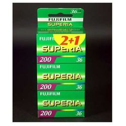 Fuji superia 200/36 x 3 negatyw kolorowy typ 135, marki Fujifilm