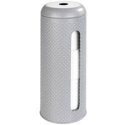 Wenko Stojak na papier toaletowy punto, kolor szary matowy, wykonany z metalu, pojemność: 3 rolki papieru, wymiary 37.5 x 15 cm (4008838219638)