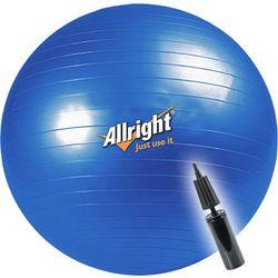 Piłka gimnastyczna śr.65 cm + pompka Allright (niebieska) ze sklepu Fitness.Shop.pl