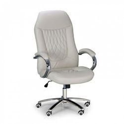Krzesło biurowe Superior w skórze, kość słoniowa
