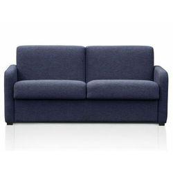 3-osobowa rozkładana sofa tomaka typu express z tkaniny – kolor niebieski marki Vente-unique