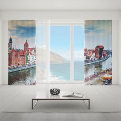 Zasłona okienna na wymiar komplet - THE CITY OF GDANSK