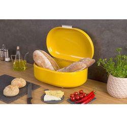 Metalowy chlebak RETRO, pojemnik na pieczywo - kolor żółty, 40 x 25 x 17 cm