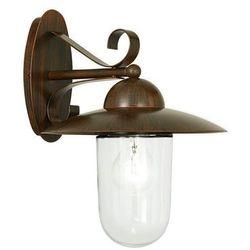 Zewnętrzna LAMPA ścienna MILTON 83589 Eglo elewacyjna OPRAWA do ogrodu KINKIET IP44 outdoor antyczny brąz przezroczysty (9002759835897)