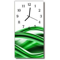 Zegar Szklany Pionowy Sztuka Abstrakcja fala zielony, kolor zielony