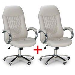 Fotel biurowy superior 1+1 gratis, kość sloniowa marki B2b partner