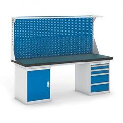B2b partner Stół warsztatowy gb z szafką, panelem i kontenerem szufladowym, 2100 mm