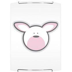 Lampa dla dziecka Królik - kinkiet Rubby biały/ chrom E27 60W